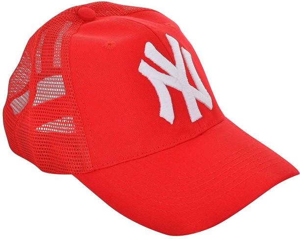 dd2c9929cc6 Creative India Exports Unisex NY 3D Embroidery Red Cap