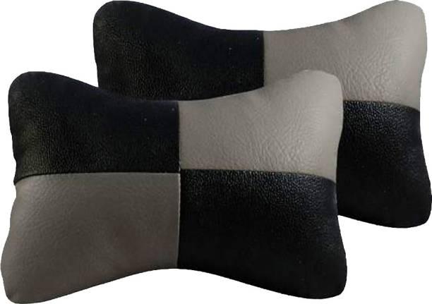 AdroitZ Black, Grey Leatherite Car Pillow Cushion for Maruti Suzuki