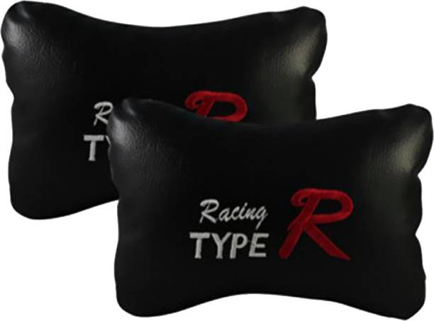 AutoKraftZ Black Leatherite Car Pillow Cushion for Mahindra