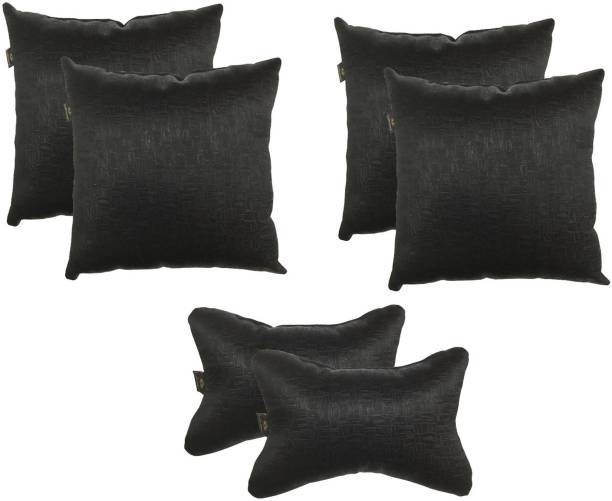 Lushomes Black Polyester Car Pillow Cushion for Universal For Car