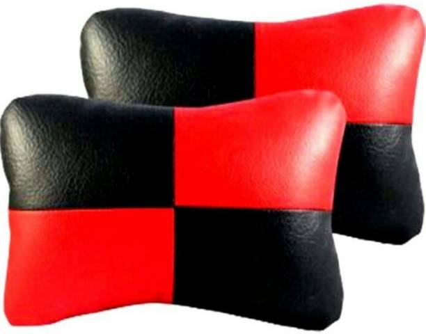 ElectriBles Red, Black Leather Car Pillow Cushion for Hyundai
