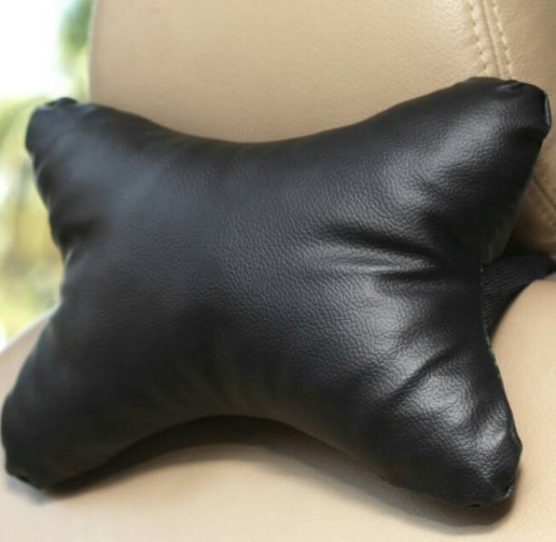 ElectriBles Black Leatherite Car Pillow Cushion for Maruti Suzuki