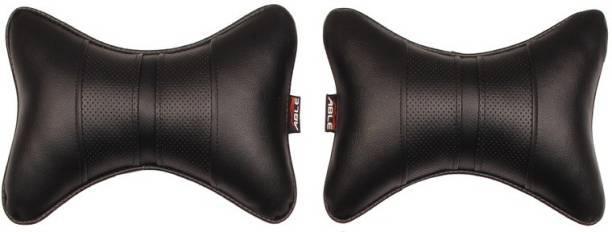 Able Auto Black Leatherite Car Pillow Cushion for Maruti Suzuki