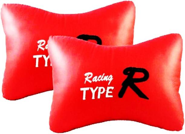 AdroitZ Red Leatherite Car Pillow Cushion for Maruti Suzuki