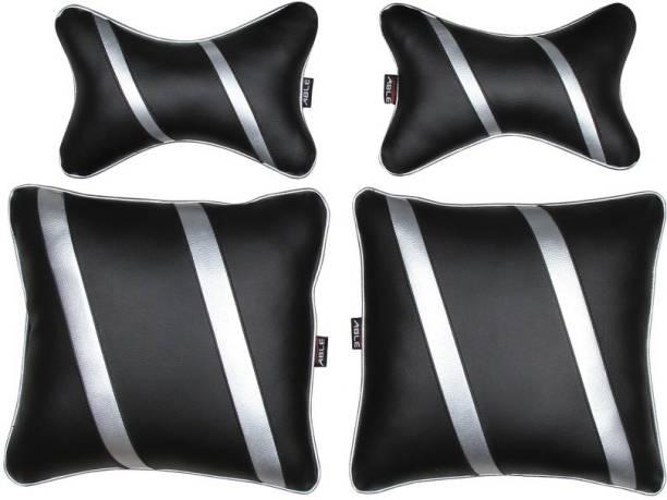 Able Auto Silver Leatherite Car Pillow Cushion for Maruti Suzuki