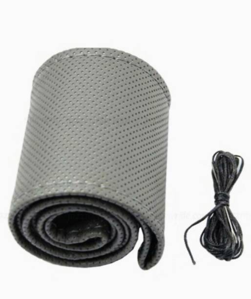 ELECTRIBLES Hand Stiched Steering Cover For Hyundai Santro