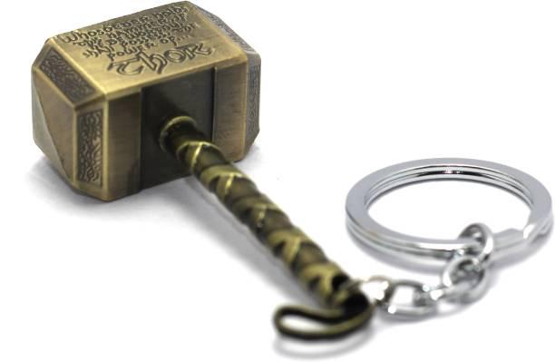 AA Retail Thor Hammer Bronze Premium Metal Key Chain