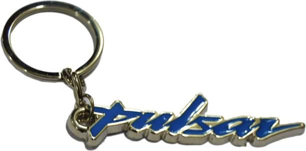 Tech Fashion Pulsar Stunning Blue Metal Keyring accessories for Car Bike House Office Key Holder Best Quality Gift -TF-498 Locking Key Chain