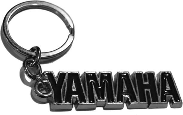Tech Fasahion Yamaha Stunning Black Metal Keyring accessories for Car Bike House Office Key Holder Best Quality Gift TF-493 Locking Key Chain