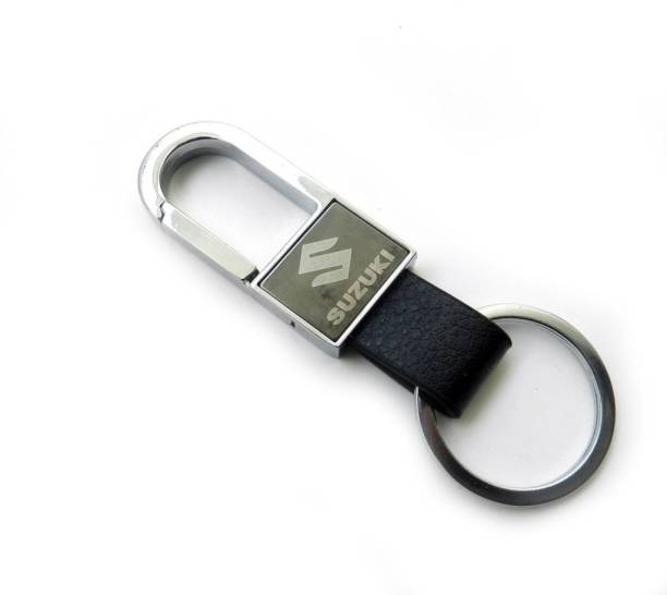 GCT Suzuki Black Leather Metal Logo Locking Locking Key Chain 446330b5c8