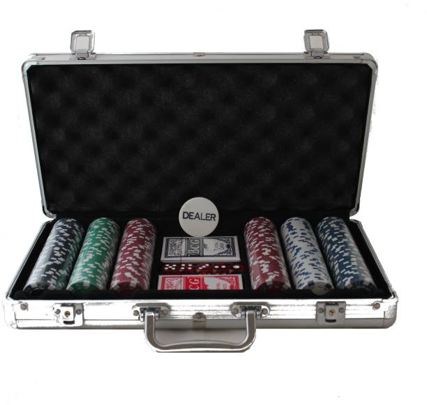 MOG Poker Set - 300 Chips (Silver Case)