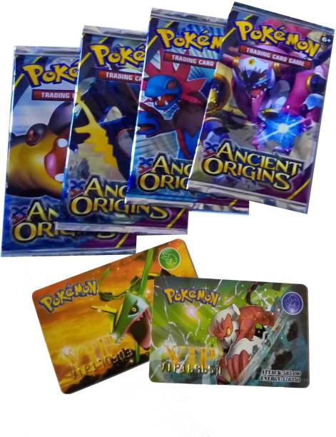 Switch Control Pokemon Ancient Origins VIP credit card (4 packs with 1 card each)