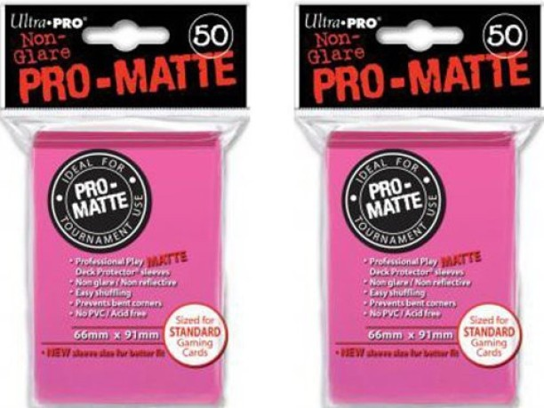 Slayer Hot Pink Ultra Pro Sleeves 100 Count Deck Protector Pro Brand New
