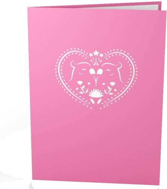 Indifashion Lovebirds Valentine's Day Greeting Card