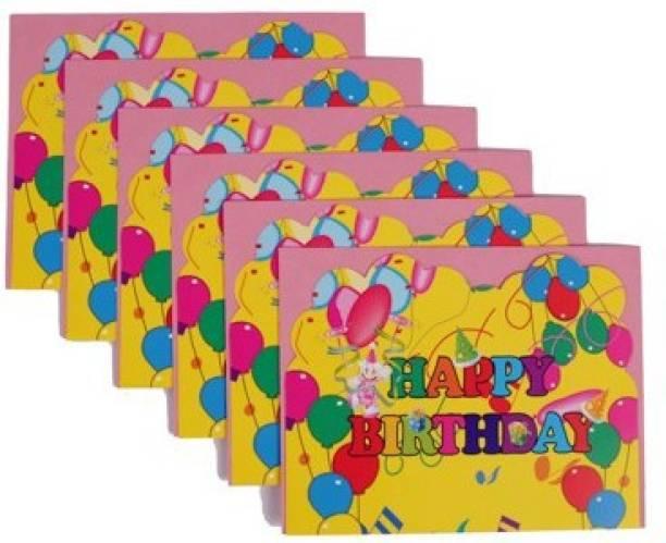 Funcart Colorful Balloons Invitation Card