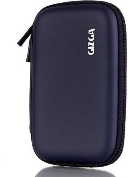 Gizga Pouch for GIZGA Branded 2.5 inch HARD SHELL - Color: Dark Blue; Series External Portable Hard Disk Drive Carry Cover Protector/ Pouch / Bag/ HDD Case