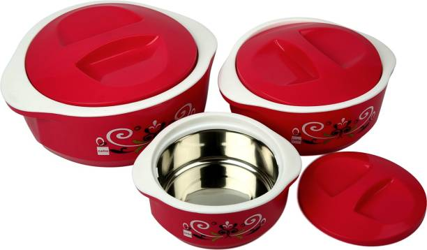 Cello Hot Meal Insulated Pack of 3 Thermoware Casserole Set 500 ml, 1500 ml, 850 ml