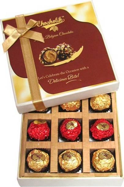 Chocholik 9pc Legend Wrapped Box Luxury Chocolate Truffles