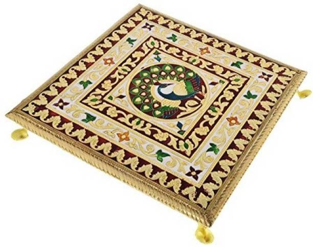 RaGa Craft Wood Pooja Chowki