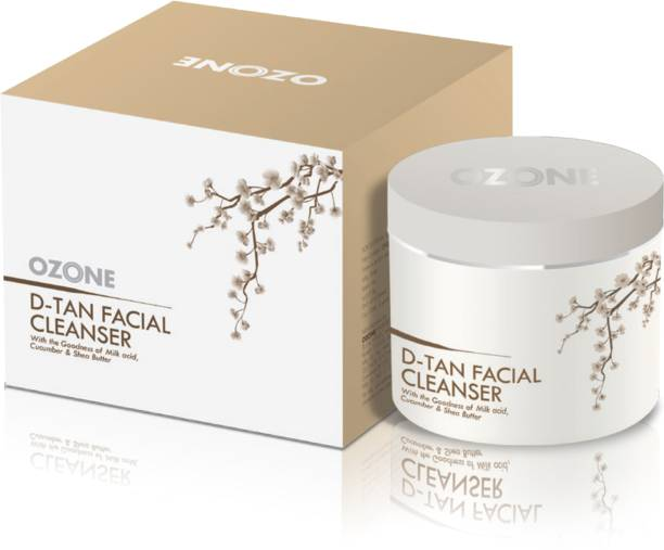 OZONE Ayurvedics D Tan Facial Cleanser with the Goodness of Cucumber, Milk & Shea Butter