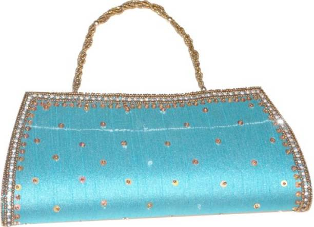 Asian Aura Party Blue Clutch