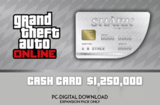Grand Theft Auto Online: Great White Shark Cash Card - 1,250,000$ ROCKSTAR (PC) with Expansion Pack Only