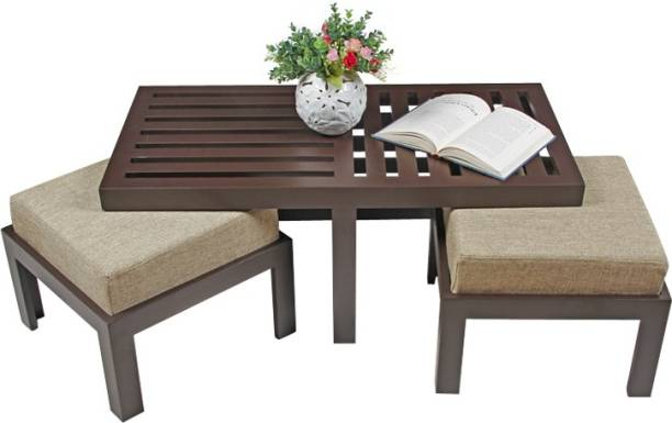 ARRA Trendy Engineered Wood Coffee Table Finish Color   Jute, Pre assembled