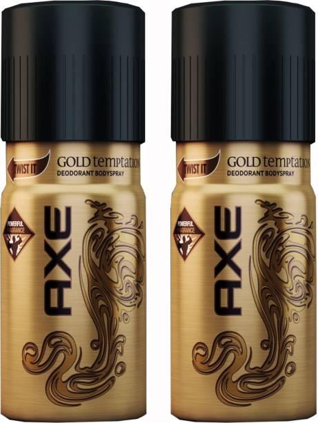 Axe Gold Temptation Deodorant Spray Combo Set