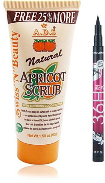ads 50 gm Scrub with Sketch Pen Eyeliner