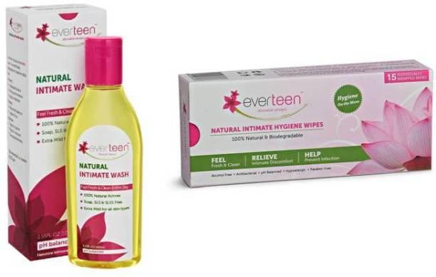 everteen Natural Intimate Hygiene Wipes & Wash
