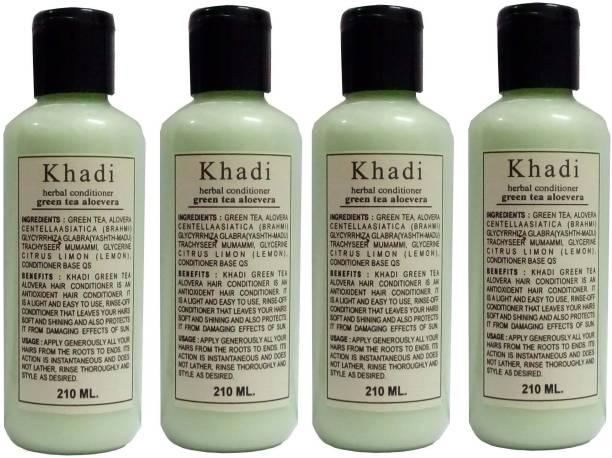 Khadi Herbal Green Tea Aloe Vera Hair Conditioner pack of 4 pcs