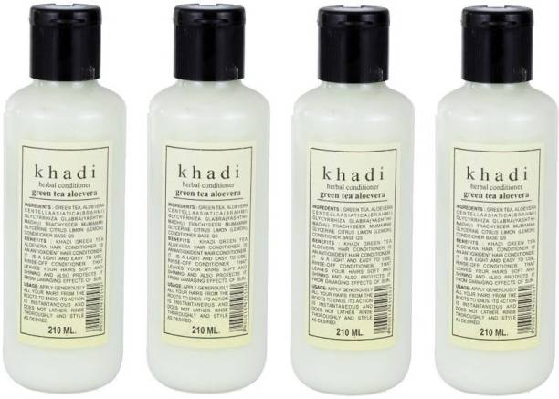 Khadi Herbal Green Tea Aloe Vera Hair Conditioner pack of 4