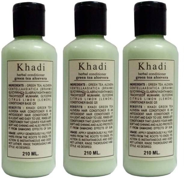 Khadi Herbal Green Tea Aloe Vera Hair Conditioner pack of 3 pcs
