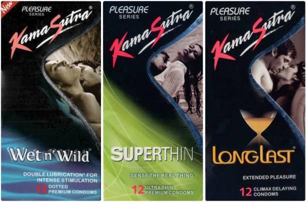 Kamasutra Wet n Wild, Longlast, Superthin Condom