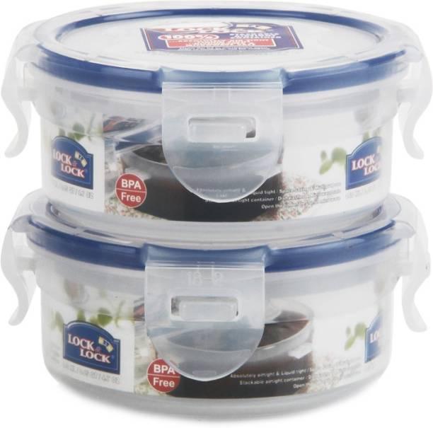 Lock & Lock Classics Round Short Food with Leak Proof Locking Lid - 140 ml Plastic