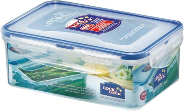Lock & Lock Classics Rectangular Food with Leak Proof Locking Lid - 850 ml Plastic Food
