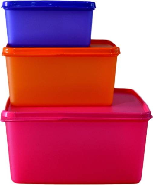 Tupperware Keep Tab  Set of 3    500 ml, 2500 ml, 1200 ml Plastic Grocery Container