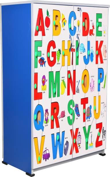 BigSmile Furniture BigSmile Kids Wardrobe - Alphabets Engineered Wood Cupboard