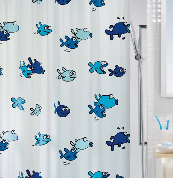 SPREAD 200 Cm 7 Ft PVC Shower Curtain Single