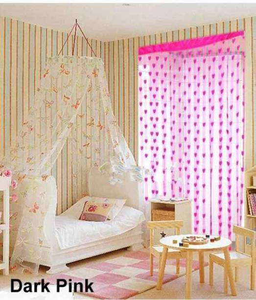 Panipat Textile Hub 213 cm (7 ft) Polyester Door Curtain Single Curtain
