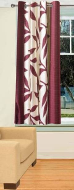 Red Hot 153 cm (5 ft) Polyester Window Curtain Single Curtain