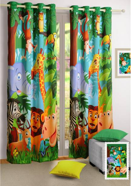 SWAYAM 152 cm (5 ft) Polyester Window Curtain Single Curtain