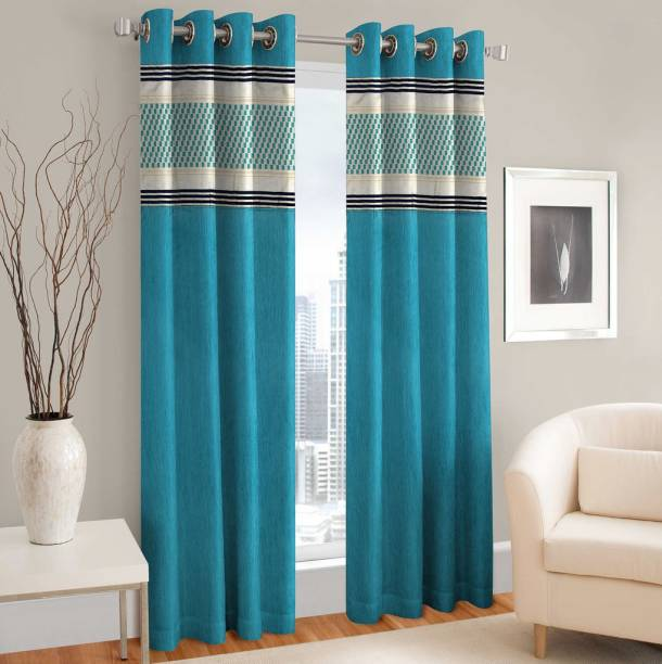 Home Cloud 213 Cm 7 Ft Polyester Door Curtain Pack Of 2