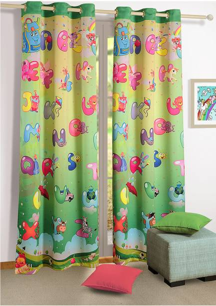 SWAYAM 228.6 cm (7 ft) Polyester Door Curtain Single Curtain