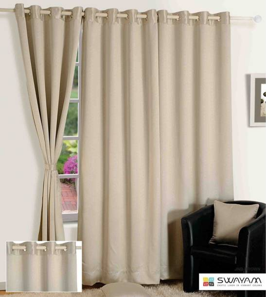 Swayam 2286 Cm 8 Ft Jacquard Door Curtain Single