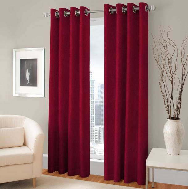 Optimistic Home Furnishing 213 Cm 7 Ft Polyester Door Curtain Pack Of 2