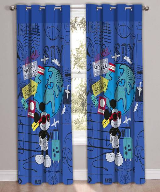 Disney 223 Cm 7 Ft Polyester Door Curtain Pack Of 2