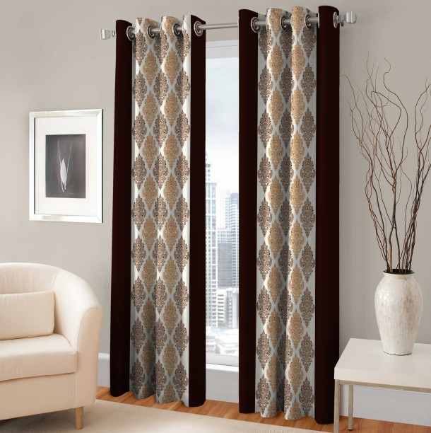 Optimistic Home Furnishing 210 Cm (7 Ft) Polyester Door Curtain (Pack Of 2