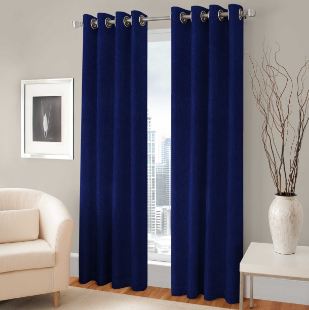 Optimistic Home Furnishing Polyester Door Curtain 213 Cm (7 Ft) Pack Of 2