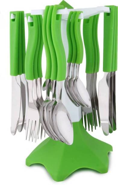 YAKEEN Standard Quality Disposable Stainless Steel, Plastic Cutlery Set